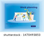 work planning and time... | Shutterstock .eps vector #1470493853