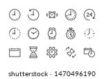 simple set of time and clock...