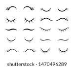cartoon eyelashes. cute...   Shutterstock .eps vector #1470496289