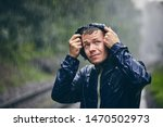 Trip In Bad Weather. Portrait...