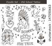 big set of hand drawn old... | Shutterstock .eps vector #147050663