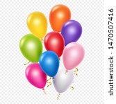 realistic balloons vector... | Shutterstock .eps vector #1470507416