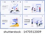 set of flat design concept of...   Shutterstock .eps vector #1470512009