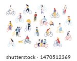 collection of people riding... | Shutterstock . vector #1470512369