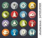 meditation and yoga vector icon ... | Shutterstock .eps vector #1470519509