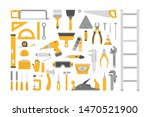 hand tool set. collection of...   Shutterstock .eps vector #1470521900