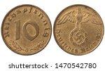 Used Nazi German 10 Pfenning ...