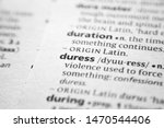 Small photo of Word or phrase Duress in a dictionary