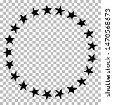 stars in circle icon on...
