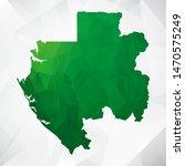 map of gabon   green geometric... | Shutterstock .eps vector #1470575249
