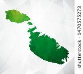 map of malta   green geometric... | Shutterstock .eps vector #1470575273