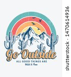 mountain illustration  outdoor... | Shutterstock .eps vector #1470614936