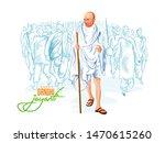 illustration of gandhi jayanti  ...