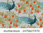 seamless pattern with blooming... | Shutterstock .eps vector #1470627470