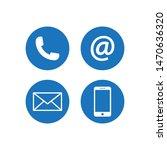 contact icon vector...   Shutterstock .eps vector #1470636320