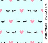 cute seamless pattern with... | Shutterstock .eps vector #1470651476