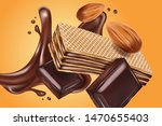 wafer chocolate flavor tasty in ... | Shutterstock .eps vector #1470655403