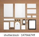 blank stationery and corporate... | Shutterstock . vector #147066749