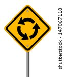 Traffic Circle Vector Road Sign