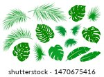 tropical summer set of isolated ... | Shutterstock .eps vector #1470675416