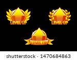 level up icon  game golden...