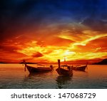 Sunset On Sea In Thailand