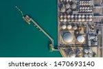 Aerial View Of Tank Terminal...