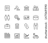 business and finance line icons ... | Shutterstock .eps vector #147069590