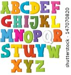 the cartoon alphabet   western... | Shutterstock . vector #147070820