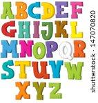 the cartoon alphabet   western... | Shutterstock . vector #147070820