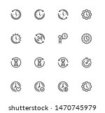 time related vector icon set in ... | Shutterstock .eps vector #1470745979