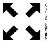 full screen symbol. vector...