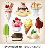 set of colorful tasty isolated... | Shutterstock .eps vector #147075140