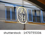 Small photo of Milan, Italy, 08.04.2019: Storefront, entrance, display and logo ASH Brand. It is the brainchild of two prominent figures French shoe designer Patrick Ithier and Italian entrepreneur Leonello Calvani
