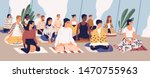 group of young men and women... | Shutterstock .eps vector #1470755963