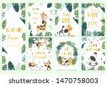 green gold collection of safari ... | Shutterstock .eps vector #1470758003