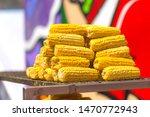 sweet ear corn boiled on street ...   Shutterstock . vector #1470772943