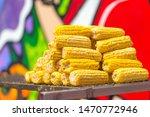 sweet ear corn boiled on street ...   Shutterstock . vector #1470772946
