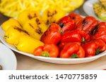 grilled sweet pepper prepared...   Shutterstock . vector #1470775859