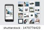 social media pack. set of... | Shutterstock .eps vector #1470776423