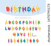 birthday candles colorful font... | Shutterstock .eps vector #1470795173