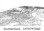 outline city concept vector.... | Shutterstock .eps vector #1470797060