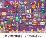 cupcake factory seamless... | Shutterstock .eps vector #147081530