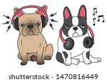 two french bulldogs with... | Shutterstock .eps vector #1470816449