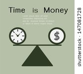 time is money. business concept....