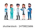 group of doctors and medical... | Shutterstock .eps vector #1470822686