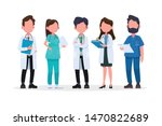 group of doctors and medical... | Shutterstock .eps vector #1470822689