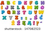 the cartoon alphabet   animal... | Shutterstock . vector #147082523