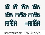 vector various house icon set. | Shutterstock .eps vector #147082796