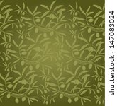 Vector Pattern Olive Branch O...